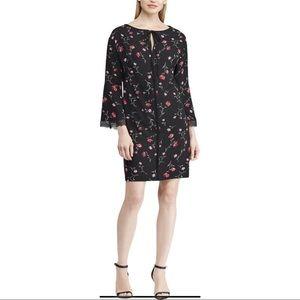 American Living Crepe Floral Bell Sleeve Dress